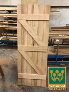 solid oak ledge and brace doors at Wittswood